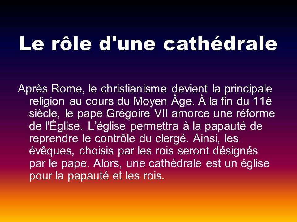 Après Rome, le christianisme devient la principale religion au cours du Moyen Âge. À la fin du 11è siècle, le pape Grégoire VII amorce une réforme de
