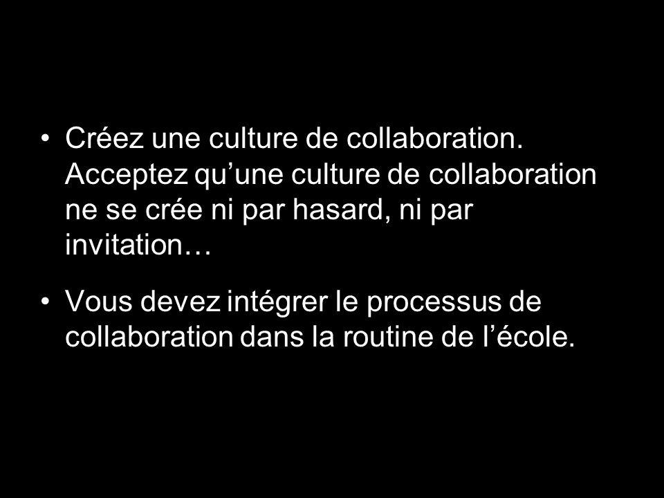 Créez une culture de collaboration.
