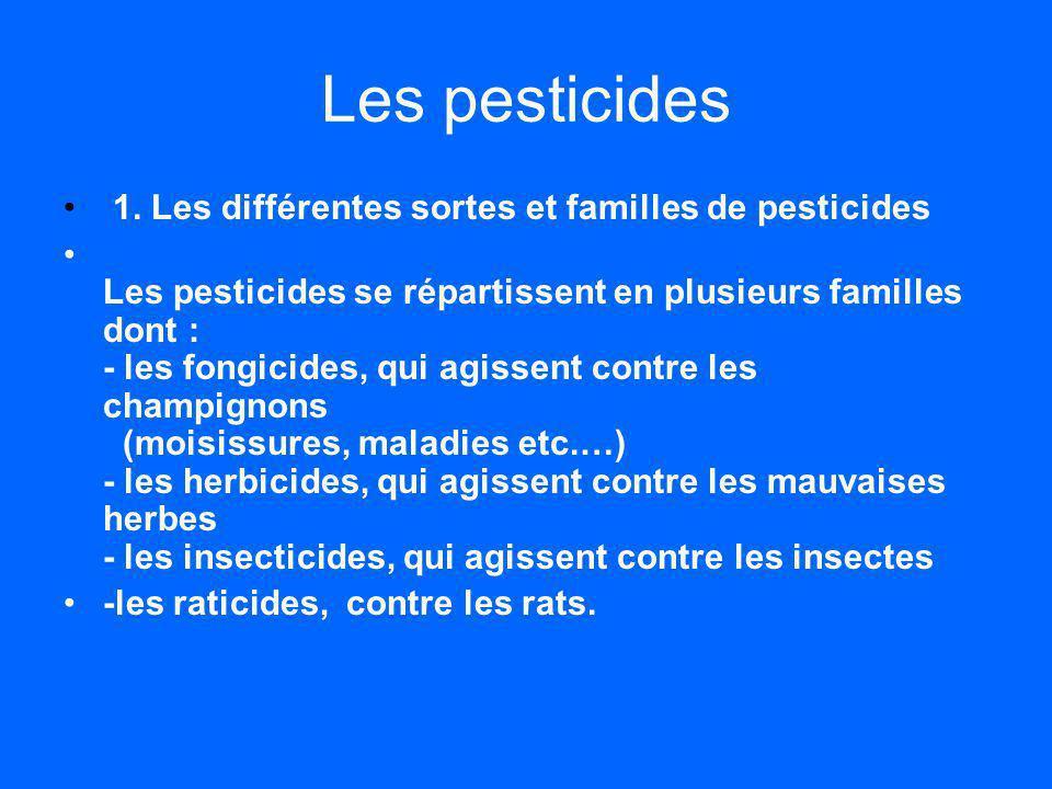 Les pesticides 1.