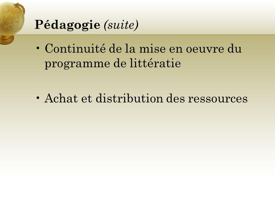 PRIORITÉS Littératie Numératie Programme dévaluation du rendement scolaire Vers un secondaire renouvelé