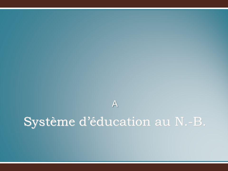 Système déducation au N.-B. A