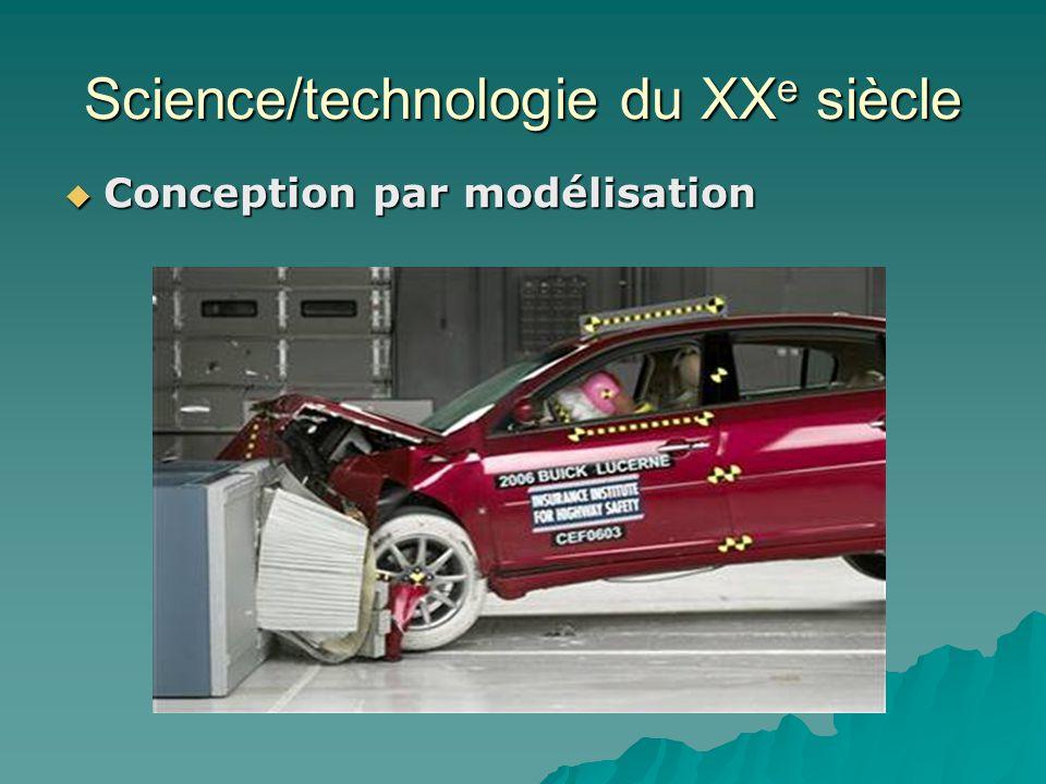 Science/technologie du XX e siècle Conception par modélisation Conception par modélisation