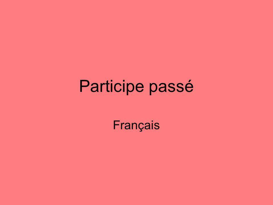 Participe passé Français