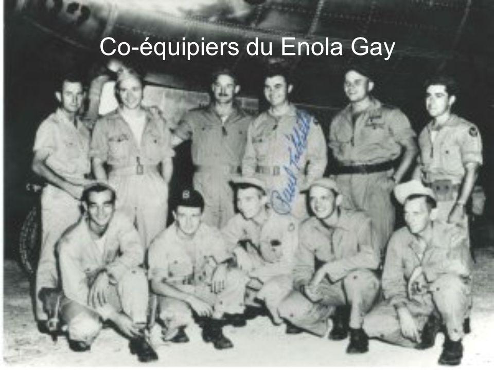 ENOLA GAY Le Enola Gay était l`avion utilisé pour faire tomber la première bombe sur Hiroshima (Little Boy).