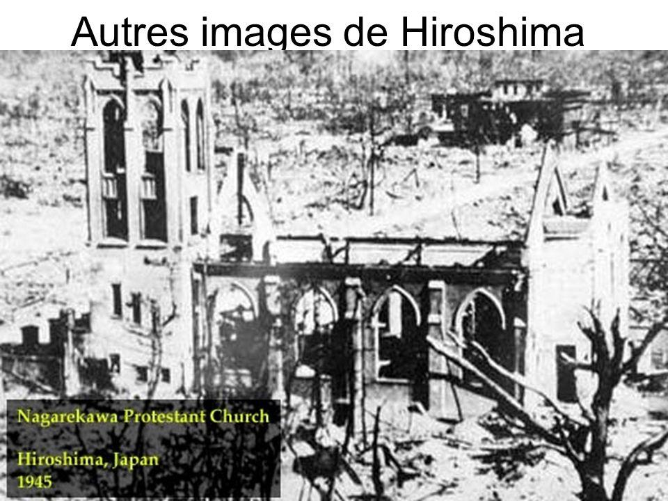 Voici Nagasaki après que Fat Man est tombé. Ce n`est même plus une ville.