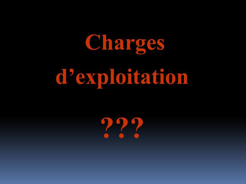 Charges dexploitation ???