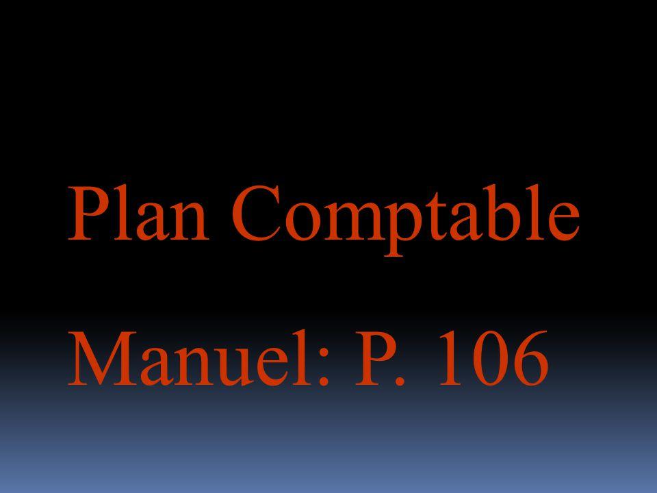 Plan Comptable Manuel: P. 106