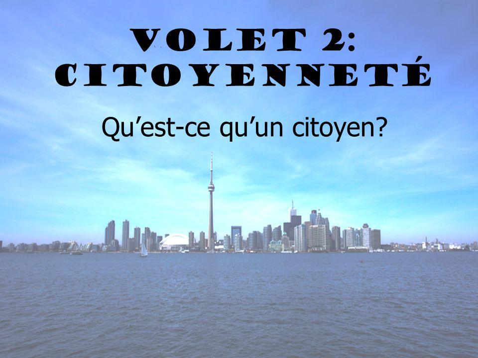 Volet 2: Citoyenneté Quest-ce quun citoyen