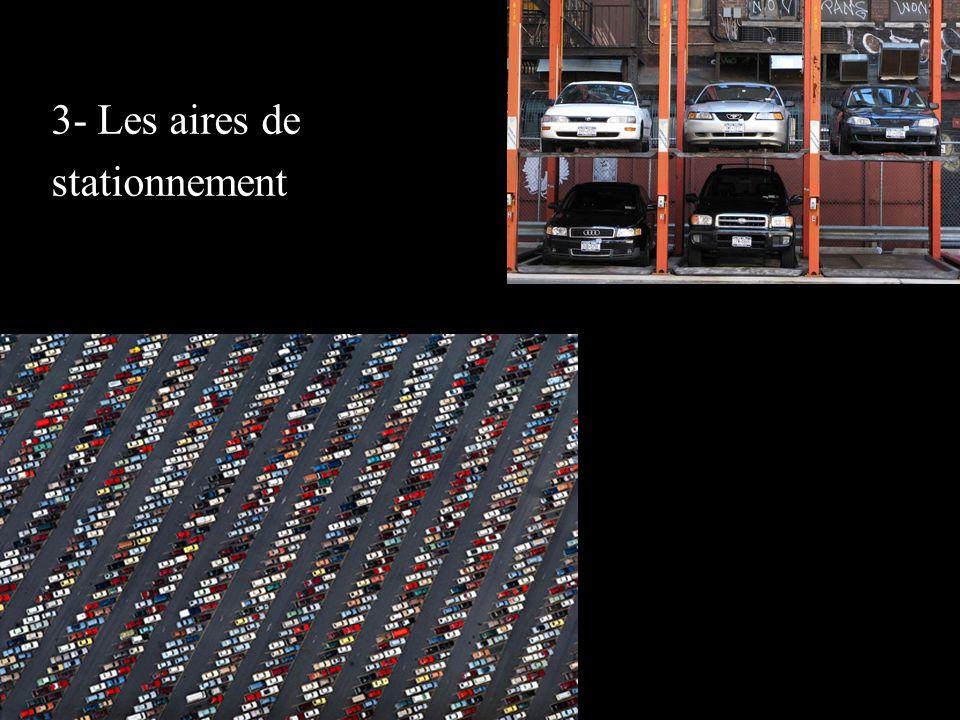 3- Les aires de stationnement