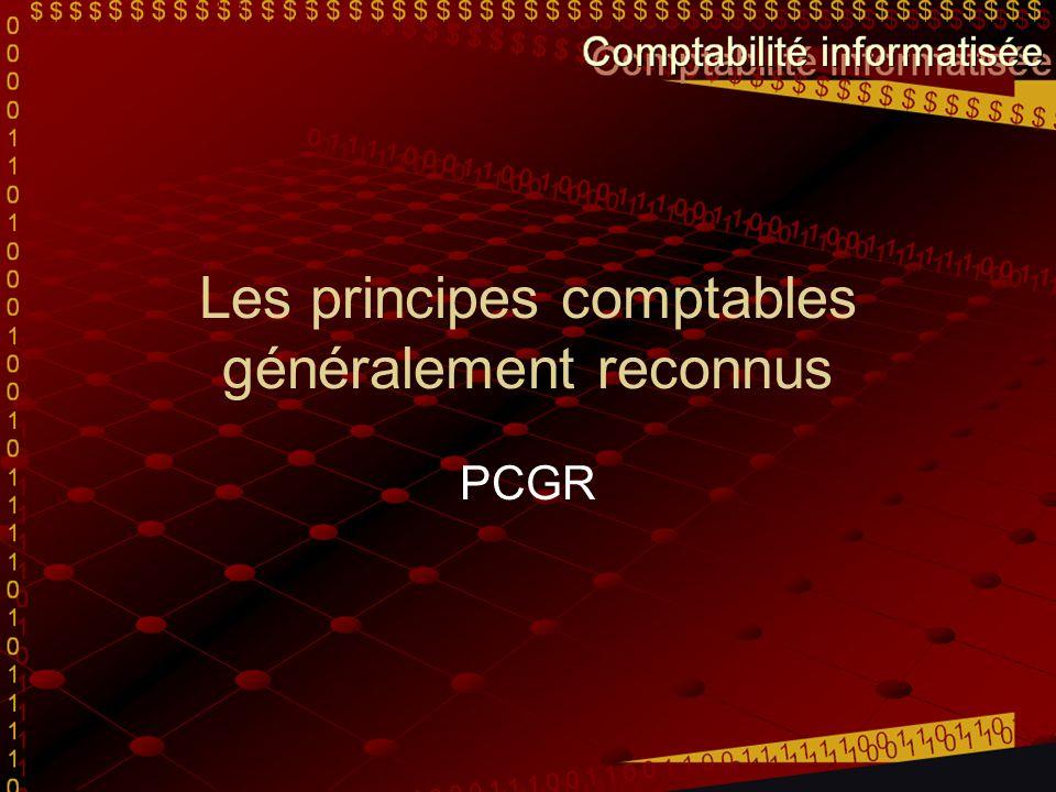 Les principes comptables généralement reconnus PCGR