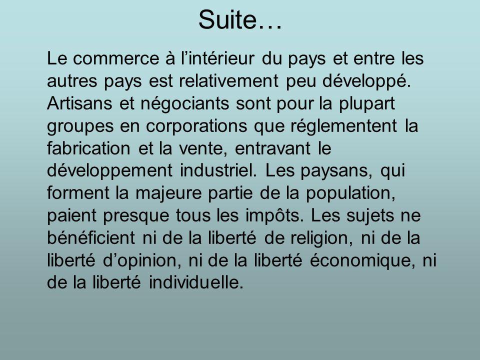 Le développement économique : la bourgeoisie Elle crée ses premières usines, tout avec la puissance dune nouvelle technologie : la machine à vapeur.