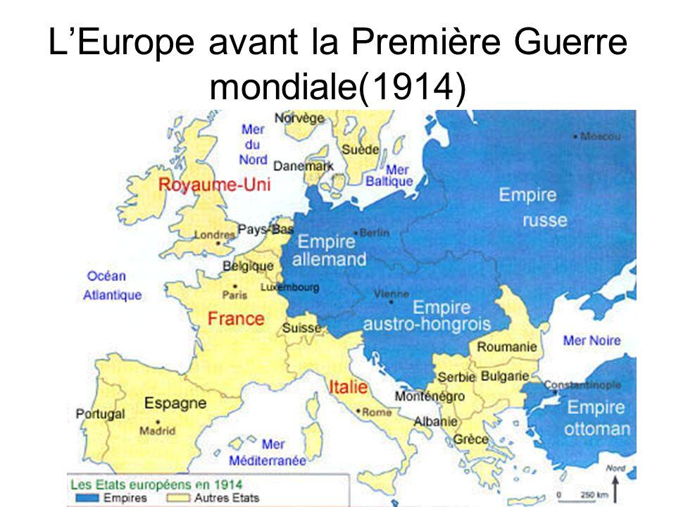 LEurope avant la Première Guerre mondiale(1914)