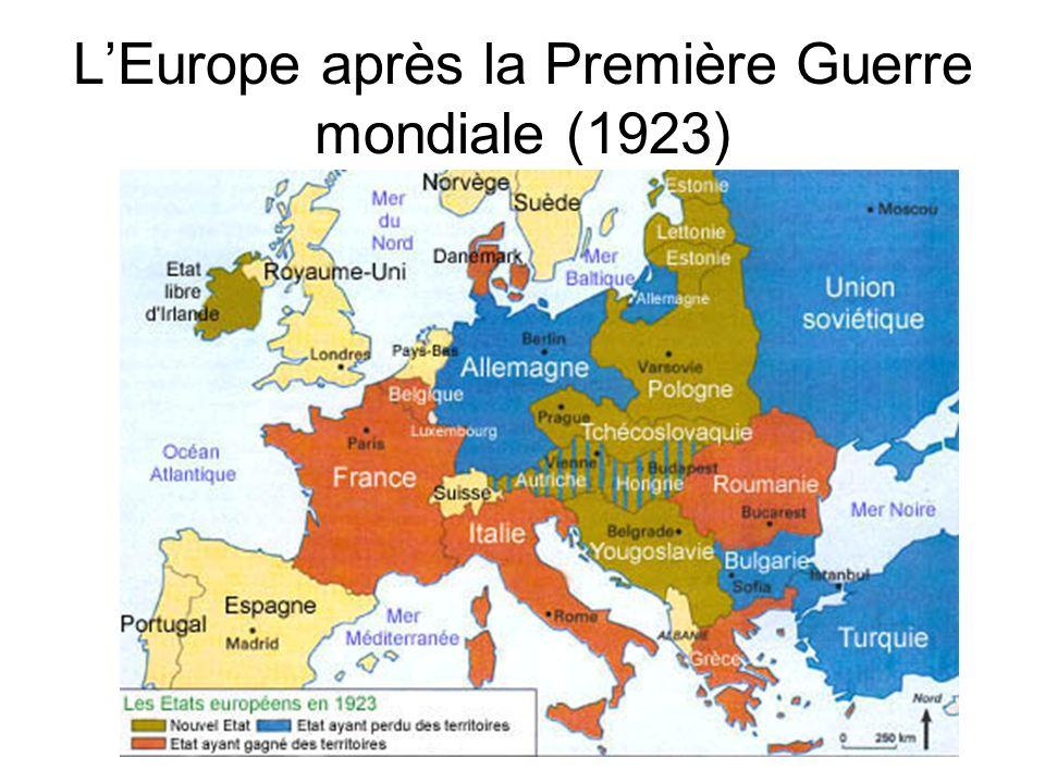LEurope après la Première Guerre mondiale (1923)