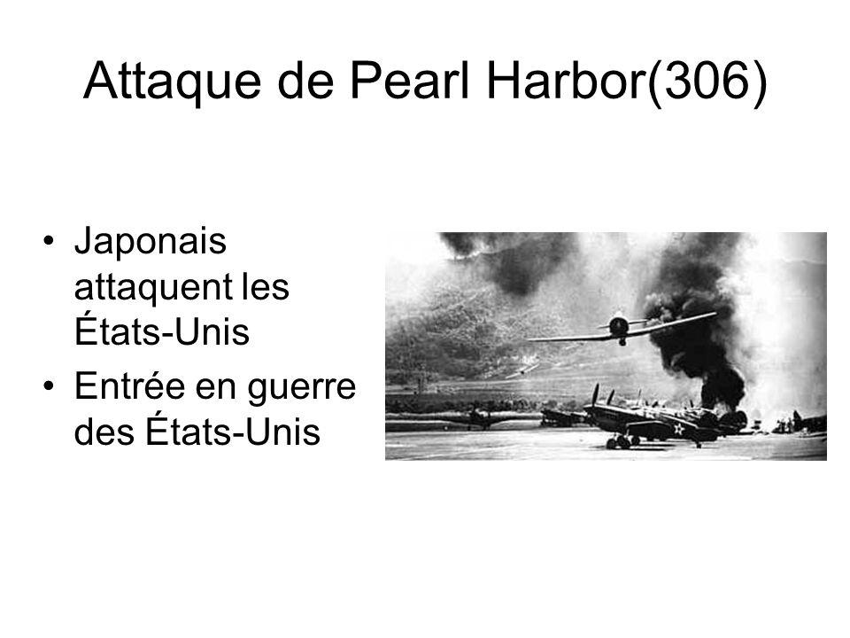 Attaque de Pearl Harbor(306) Japonais attaquent les États-Unis Entrée en guerre des États-Unis