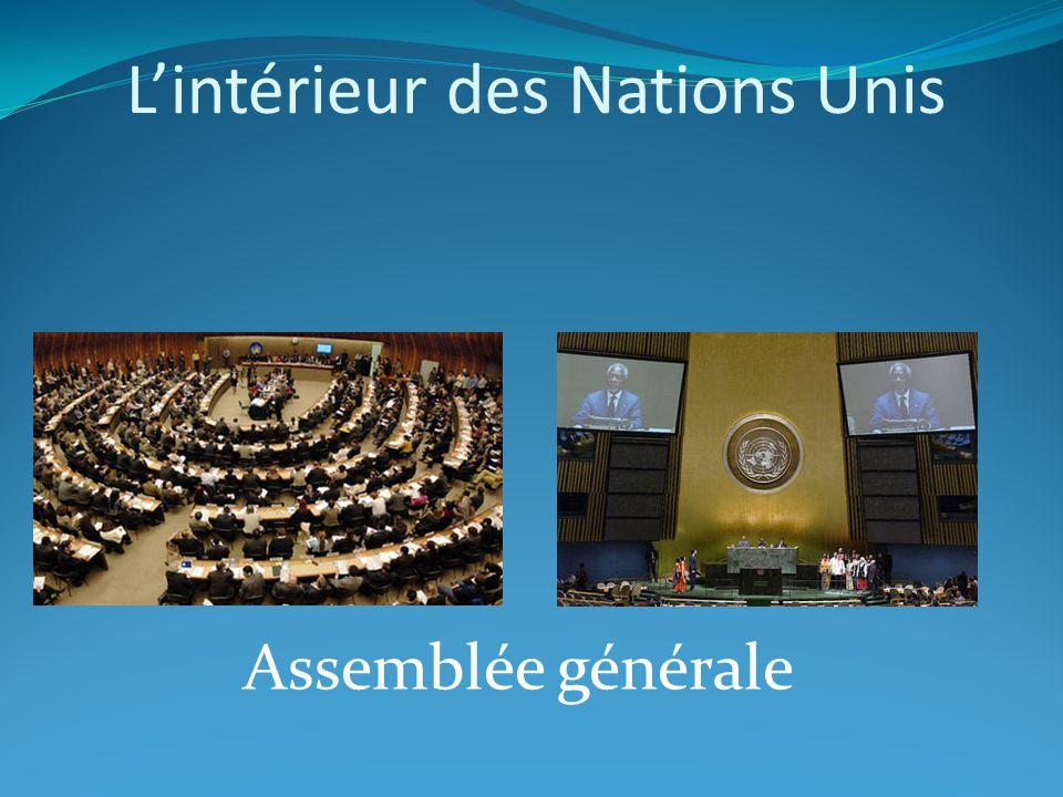 Lintérieur des Nations Unis Assemblée générale