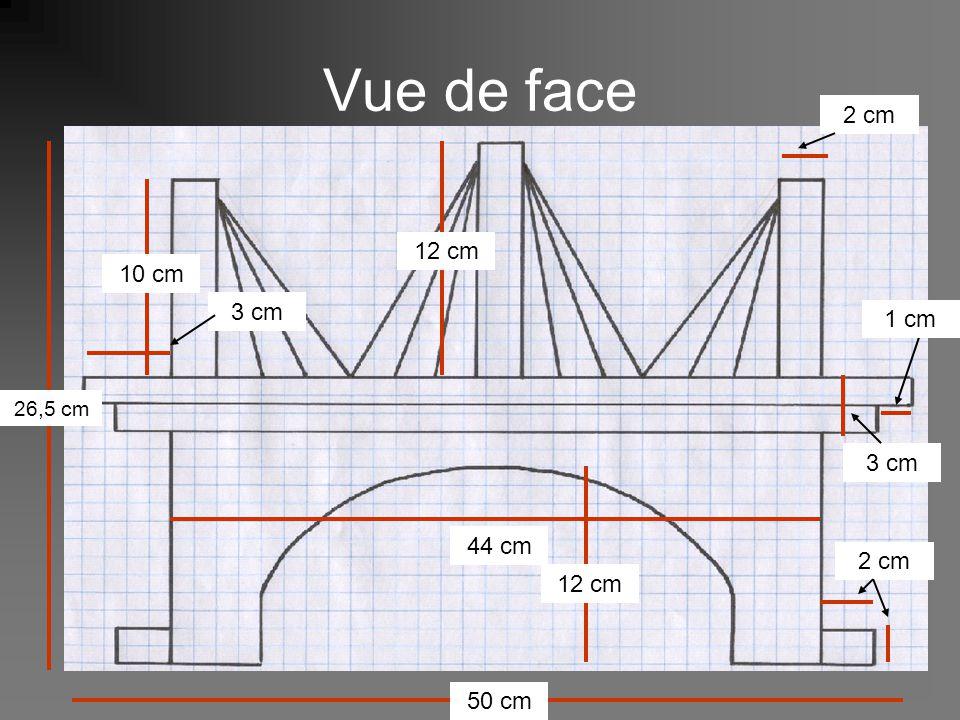 Vue de face 26,5 cm 50 cm 44 cm 10 cm 12 cm 2 cm 3 cm 2 cm 1 cm 3 cm
