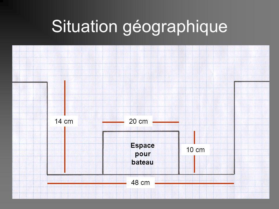 Situation géographique 14 cm 48 cm 20 cm 10 cm Espace pour bateau