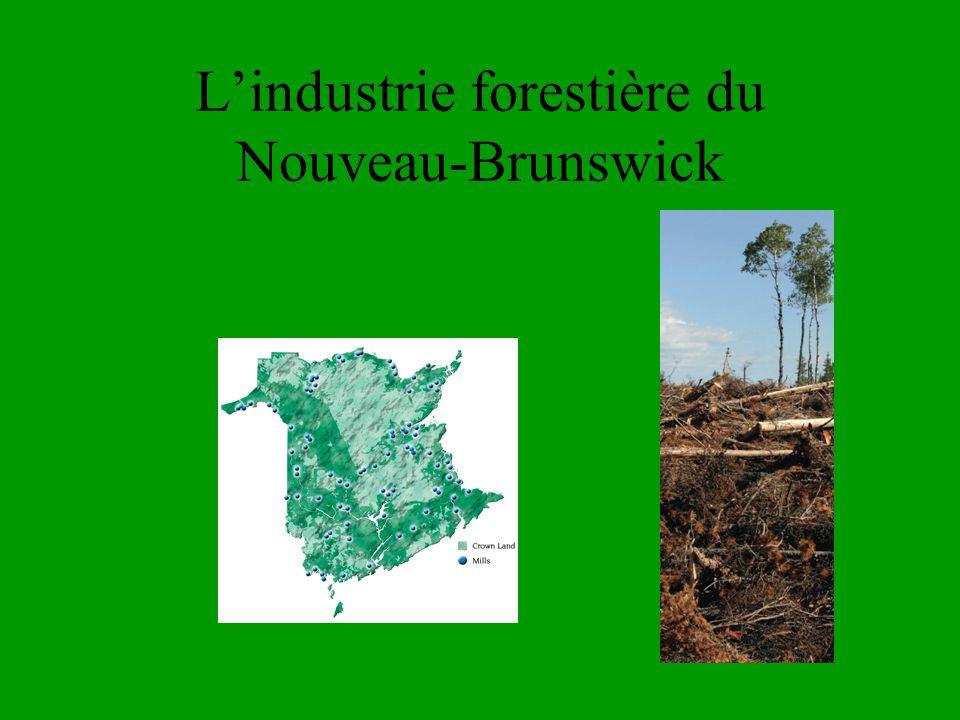 Lindustrie forestière du Nouveau-Brunswick