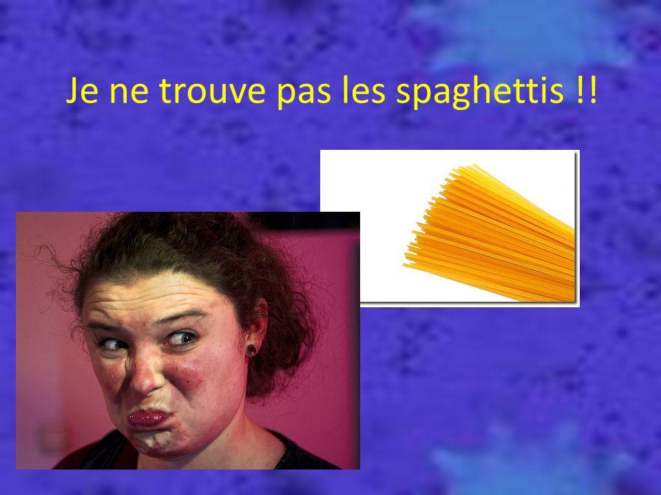 Où as-tu mis les spaghettis ??