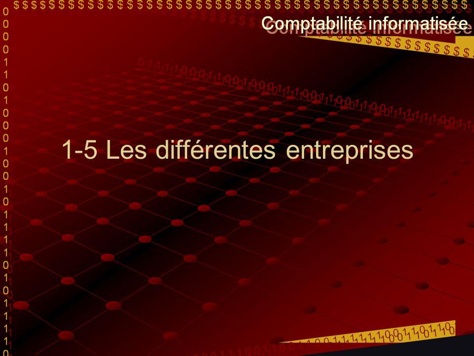 1-5 Les différentes entreprises