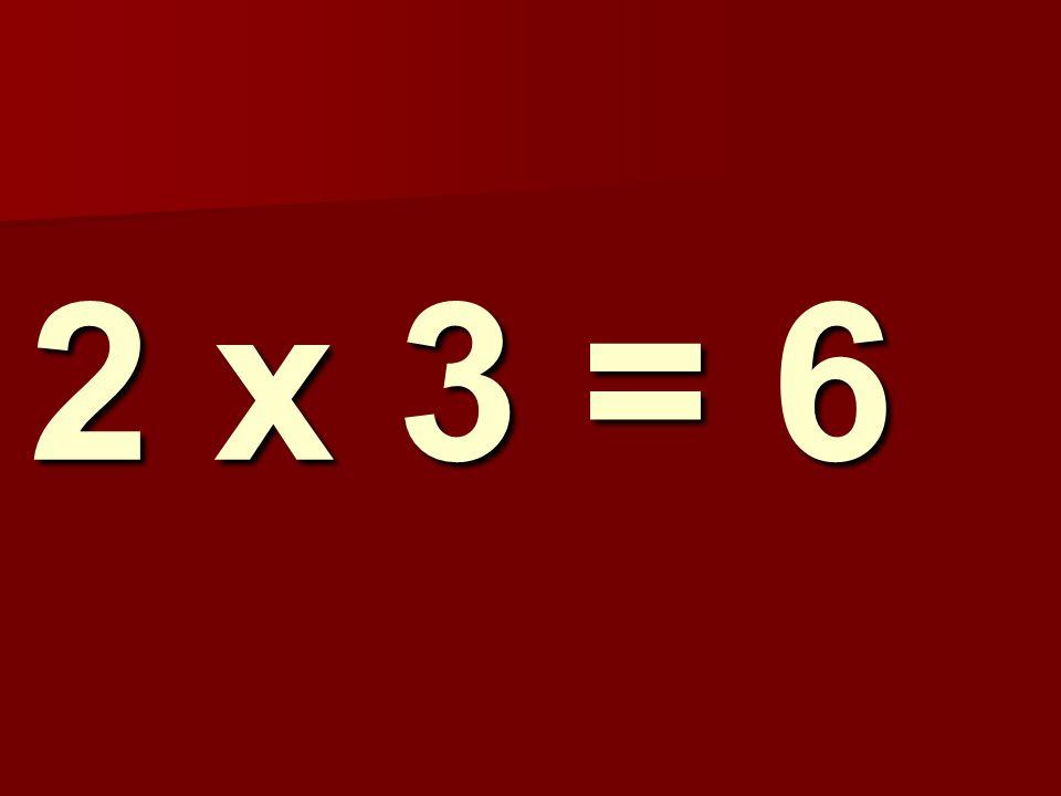 2 x 3 = 6