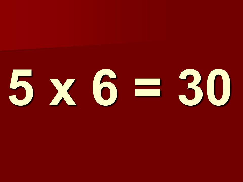 5 x 6 = 30