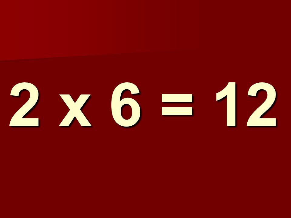 2 x 6 = 12