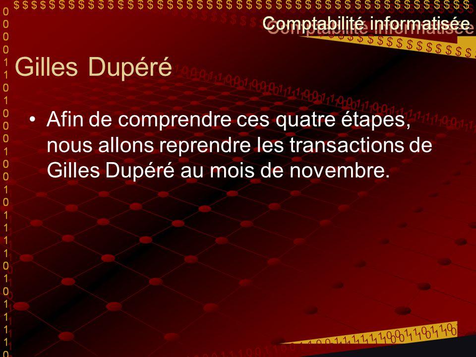 Transaction du 1 er novembre 2008 1-novEncaisse G.