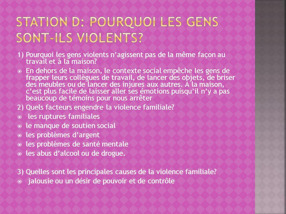 4) Que ressent une personne violente.