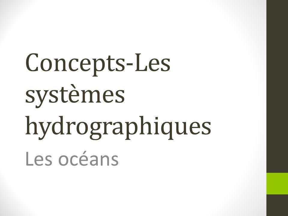 Concepts-Les systèmes hydrographiques Les océans