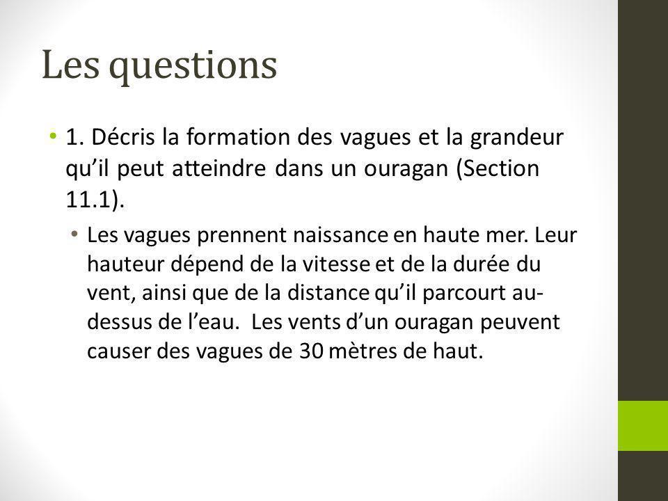 Les questions 1.