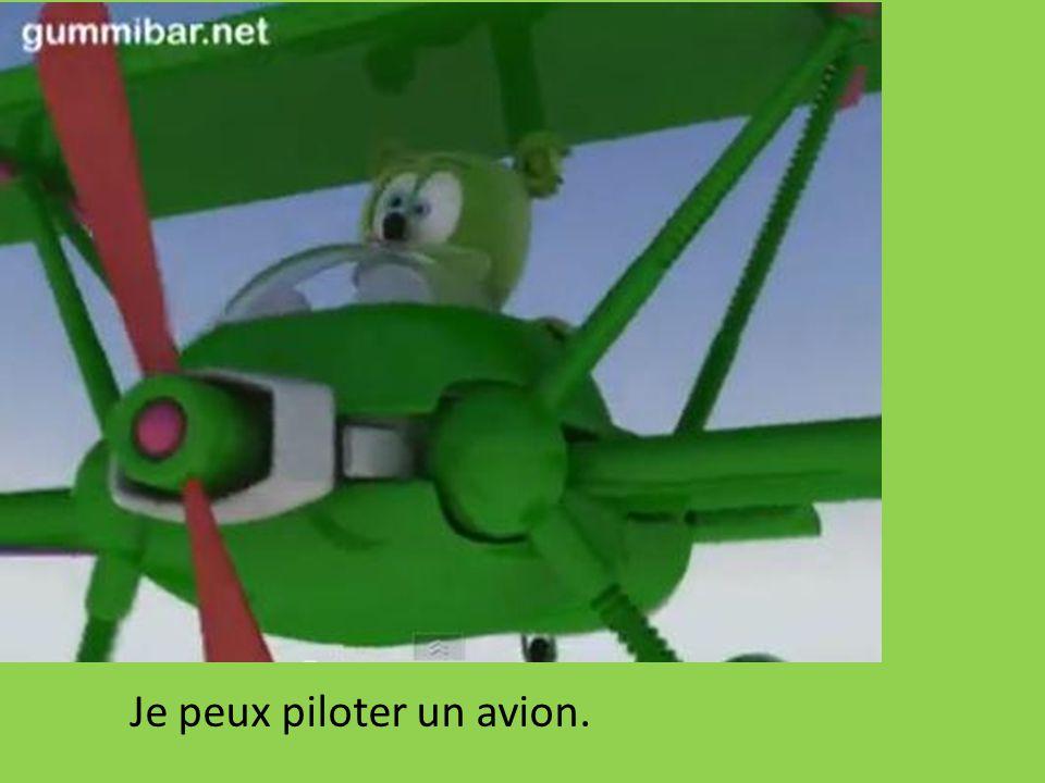 Je peux piloter un avion.