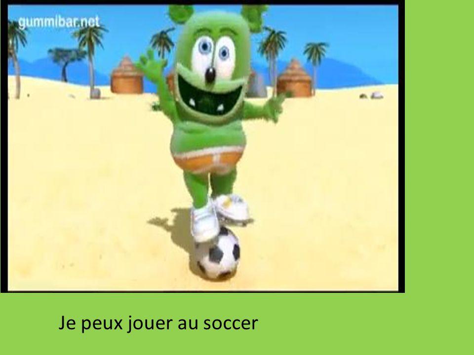Je peux jouer au soccer