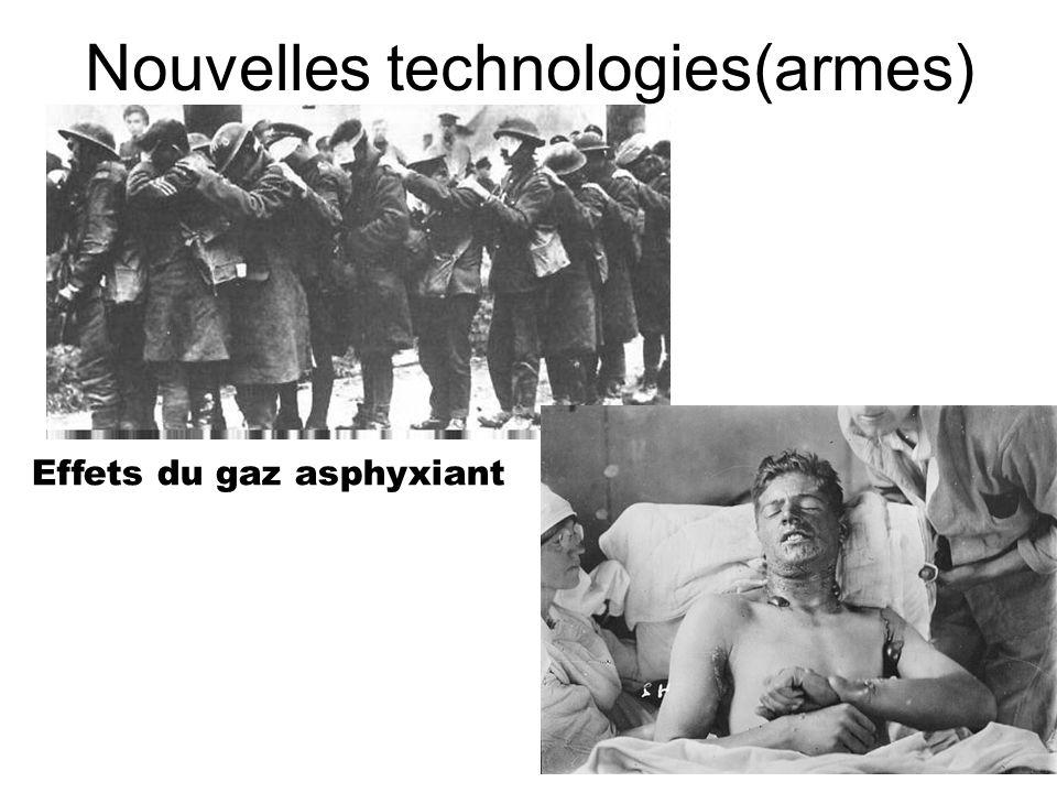 Nouvelles technologies(armes) Effets du gaz asphyxiant