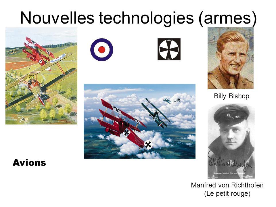Nouvelles technologies (armes) Avions Billy Bishop Manfred von Richthofen (Le petit rouge)