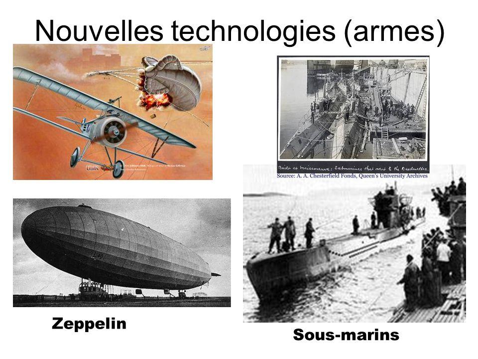 Nouvelles technologies (armes) Zeppelin Sous-marins