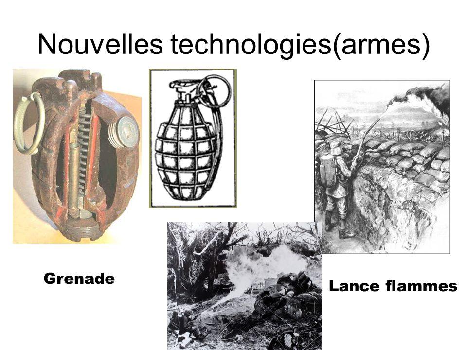 Nouvelles technologies(armes) Grenade Lance flammes