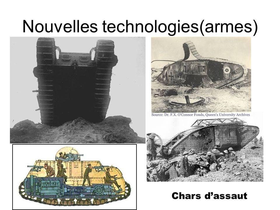 Nouvelles technologies(armes) Chars dassaut