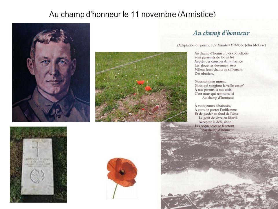 Au champ dhonneur le 11 novembre (Armistice)