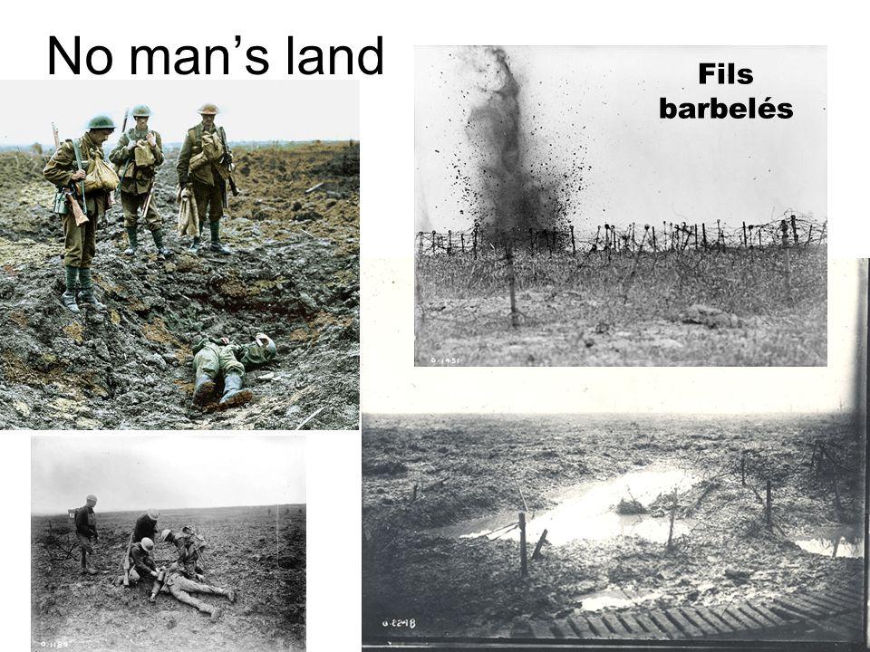 No mans land Fils barbelés