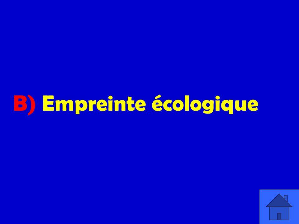 B) Empreinte écologique