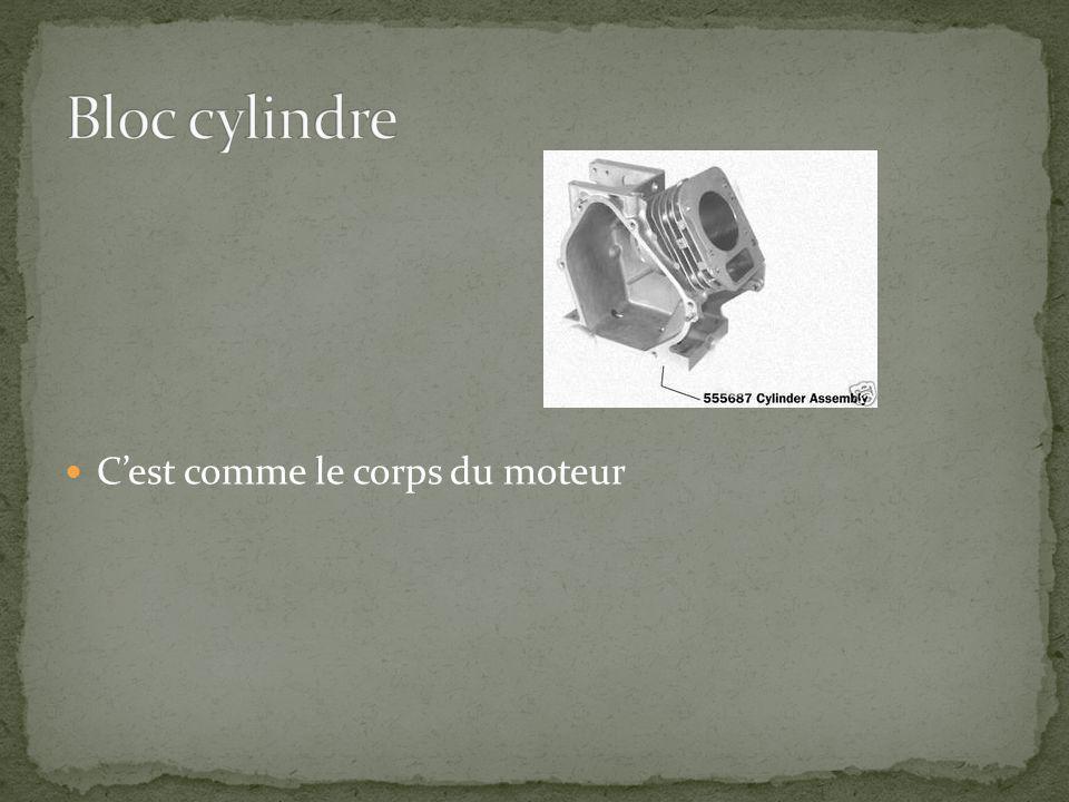 Pièce cylindrique en métal qui sajuste dans le cylindre et sy déplace par va-et-vient.