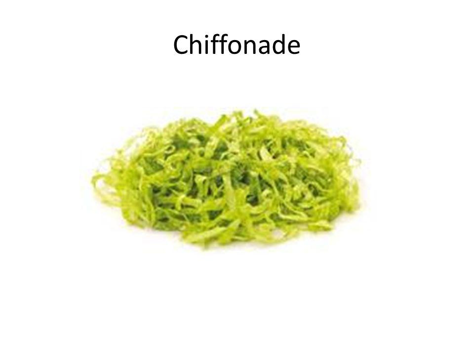 Chiffonade