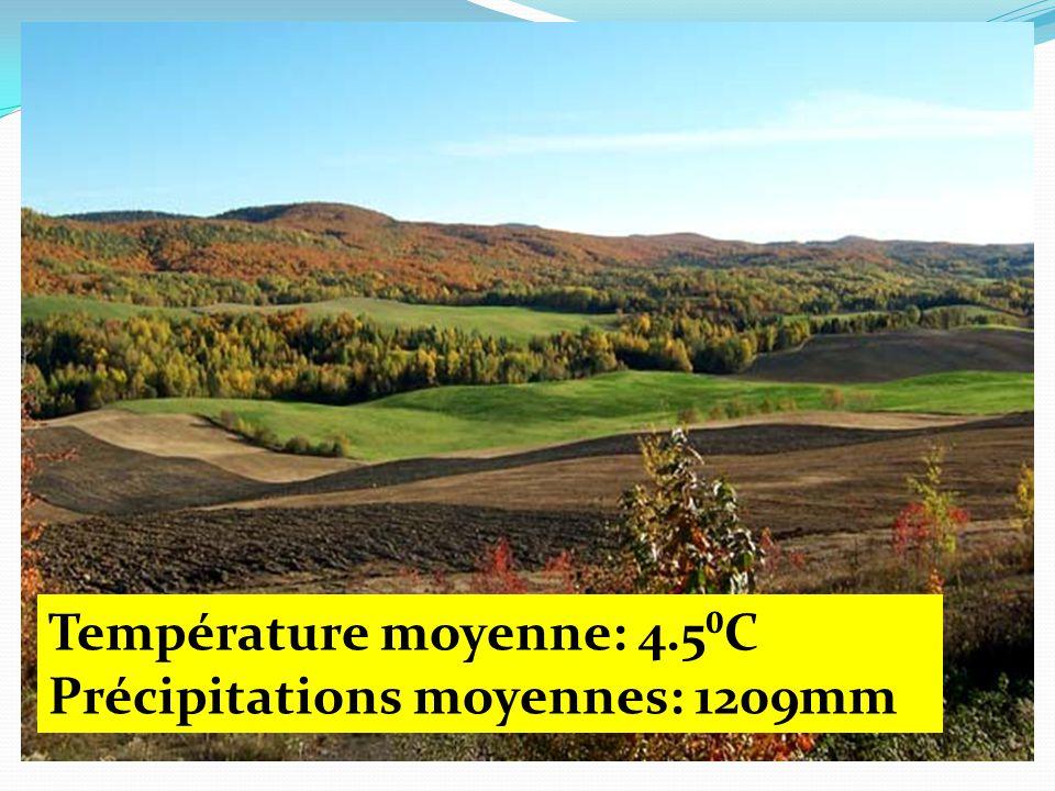 Température moyenne: 4.5C Précipitations moyennes: 1209mm