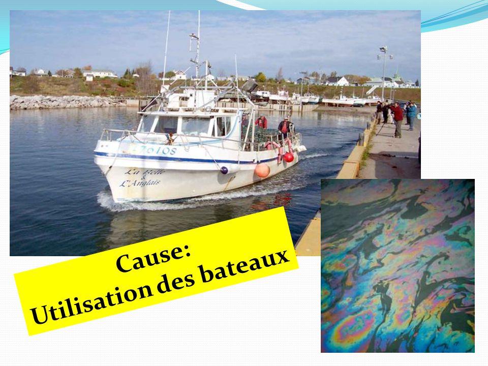 Cause: Utilisation des bateaux
