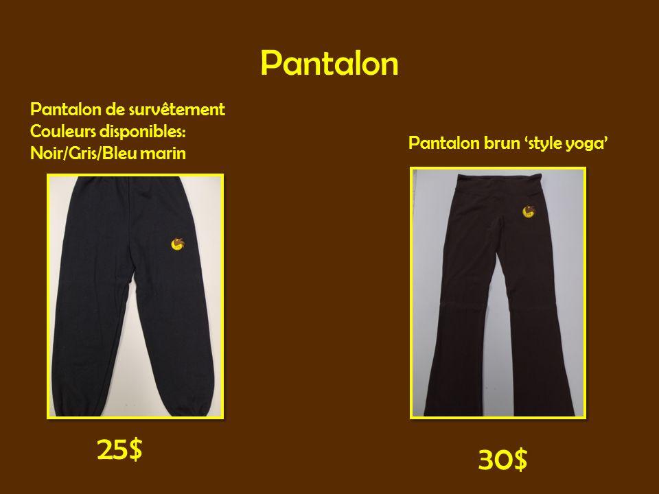 Pantalon Pantalon de survêtement Couleurs disponibles: Noir/Gris/Bleu marin Pantalon brun style yoga 25$ 30$