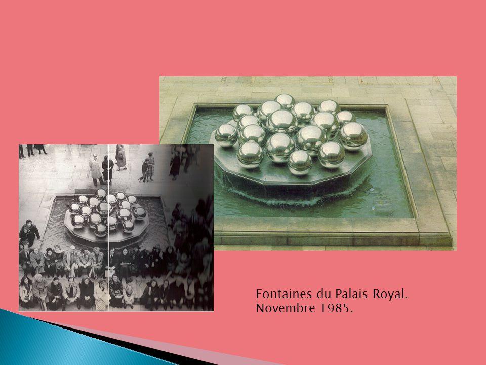 Fontaines du Palais Royal. Novembre 1985.