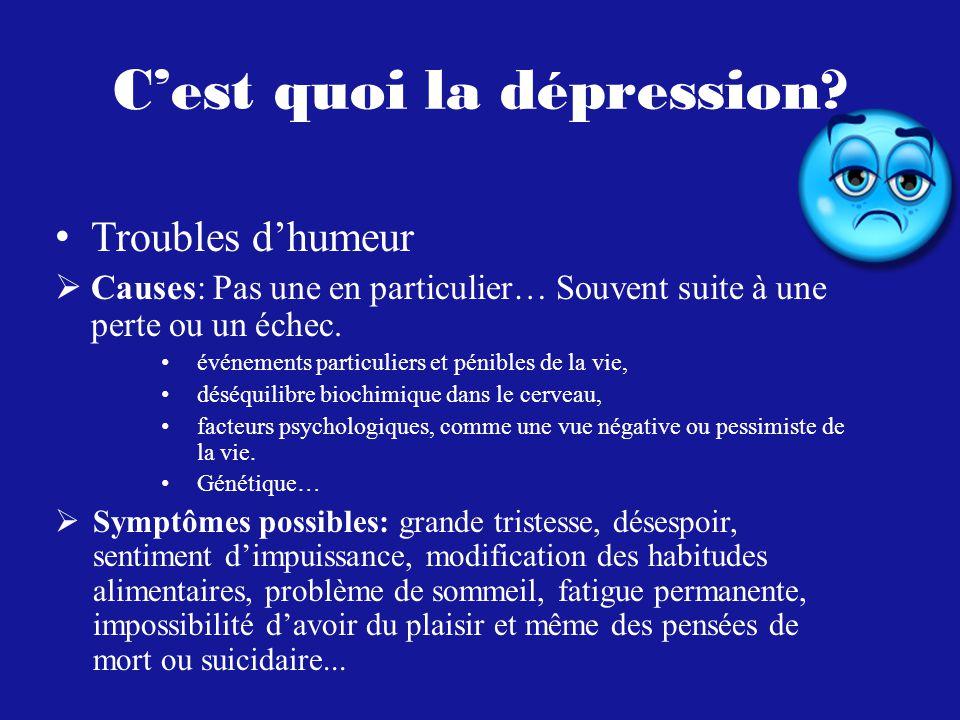 Cest quoi la dépression.