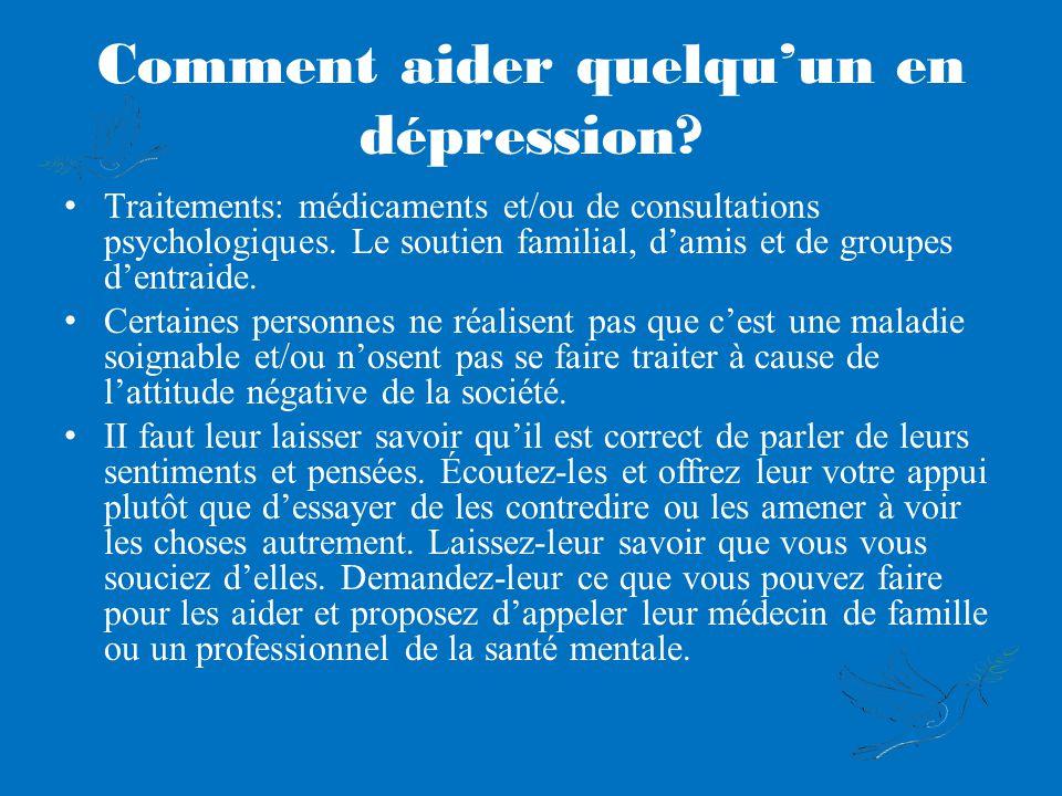 Comment aider quelquun en dépression.