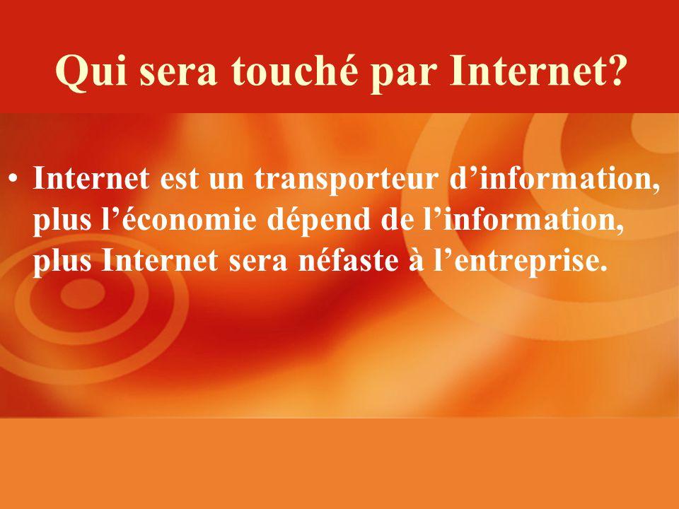 Qui sera touché par Internet.
